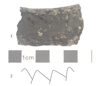 Randscherbe eines Topfes aus der Zeit 7.-9.Jahrhundert, Bad Staffelstein, Landkreis Lichtenfels, Oberfranken
