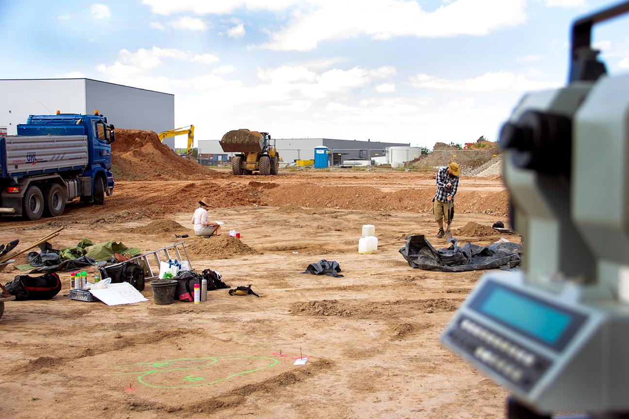 (1)Archäologische Ausgrabungsfläche am Gewerbering Höchstadt a.d. Aisch