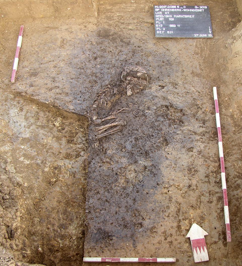 Grab eines 5-7 Jahre alten Kindes / Marktbreit, Unterfranken